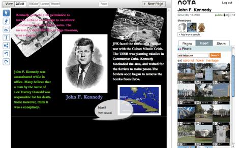 Nota - collaborative whiteboard wiki