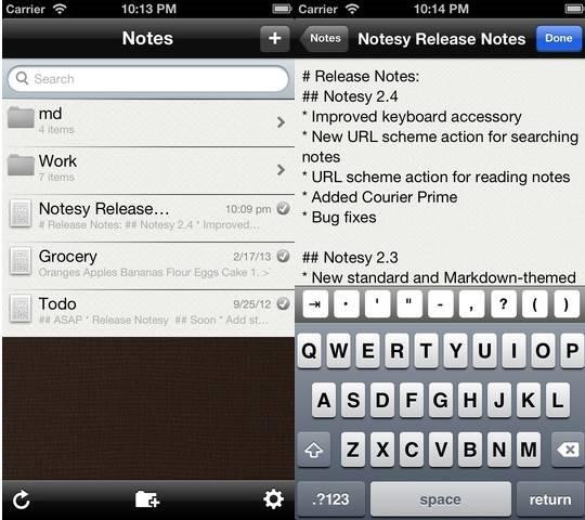 Notesy text editor for DropBox