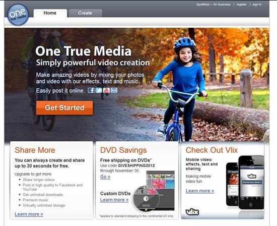 One True Media online video editing software