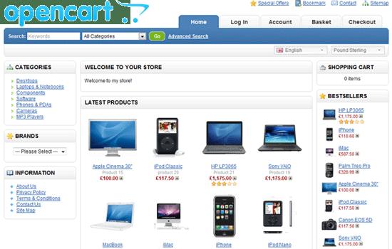 OpenCart-online-shopping-cart