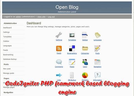 Open blog - CodeIgniter PHP Framework based blogging platform