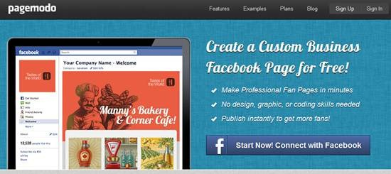 Pagemodo 13 useful Custom Facebook Fan page builder