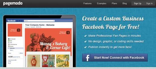 Pagemodo 13 useful Custom Facebook Fan page builder