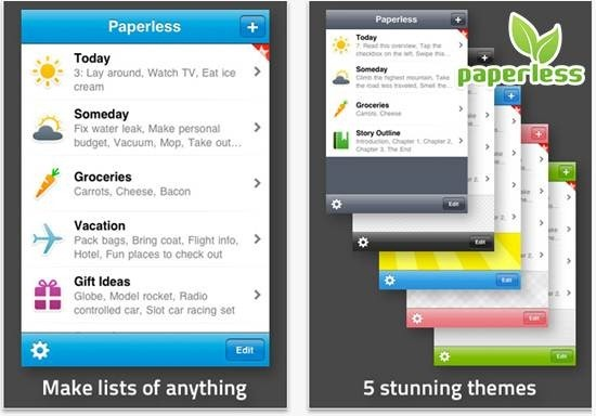 Paperless mobile to-do list : 20 most useful Mobile To-Do List manager for iPhone