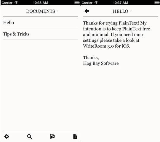 PlainText - Dropbox Text editing 6 useful Dropbox Text Editors for iPhone and iPad