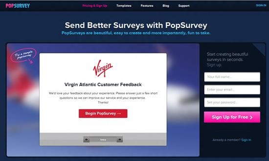 PopSurveys Survey software : Top 15 online survey software and questionnaire