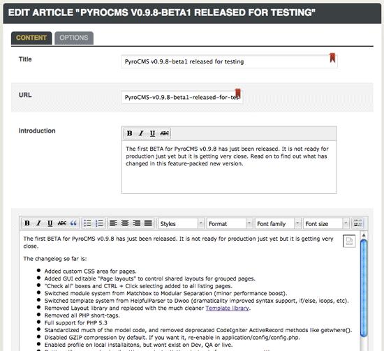 PyroCMS-CodeIgniter-based-cms