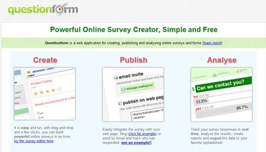Questionform Survey software : Top 15 online survey software and questionnaire