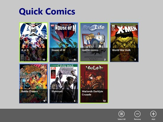 Quick Comics - Comic Book Reader for Windows 8