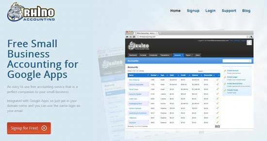 RhinoAccounting online accounting software