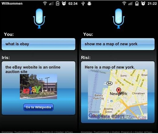 Risi Beta Lite Siri Alternative Apps for Android