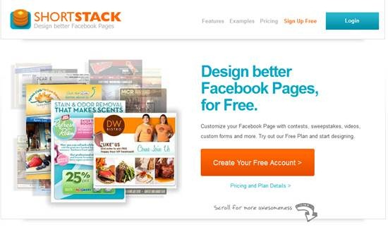 ShortStack 13 useful Custom Facebook Fan page builder