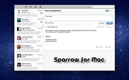 Sparrow for Mac os x