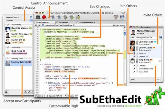 SubEthaEdit mac os x text editor