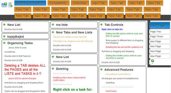 Surreal ToDo - AJAX enabled web 2.0 list manager