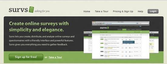 Survs Survey software : Top 15 online survey software and questionnaire