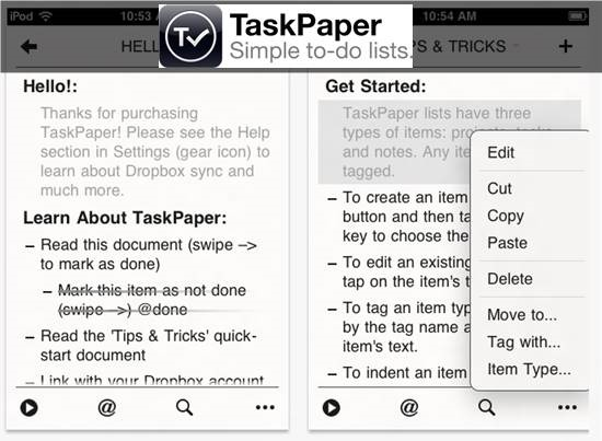 Taskpaper mobile to-do list : 20 most useful Mobile To-Do List manager for iPhone