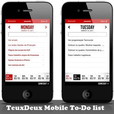 TeuxDeux mobile to-do list : 20 most useful Mobile To-Do List manager for iPhone