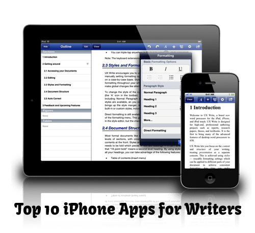 Top 10 iPhone Apps for Writers