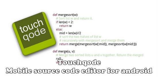 Touchqode - Mobile source code editor for android