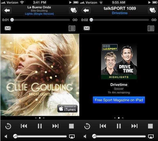 TuneIn Radio apps for iPhone