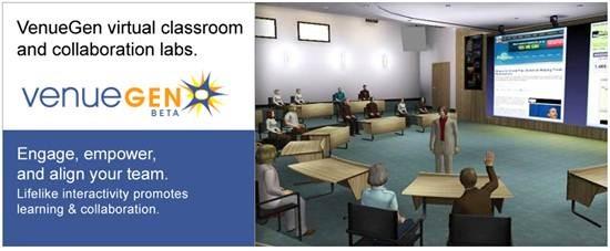 VenueGen 3D Virtual classroom