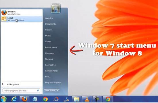 ViStart 3 How to install Window 7 start menu Orb in Windows 8 release preview