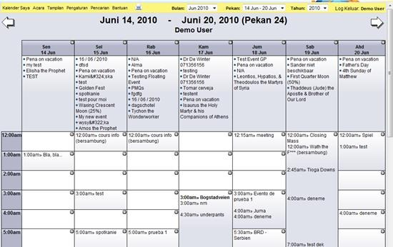 WebCalendar - PHP-based online calendar application