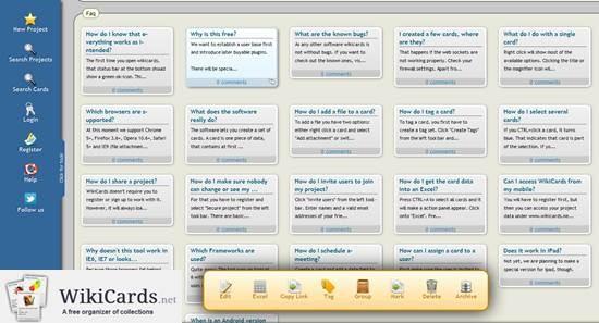 WikiCards Organizer