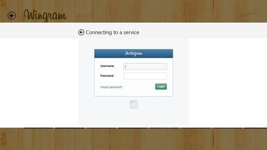Wingram - Windows 8 App for Instagram 1