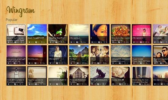 Wingram - Windows 8 App for Instagram