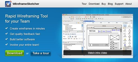 WireframeSketcher wireframing tool