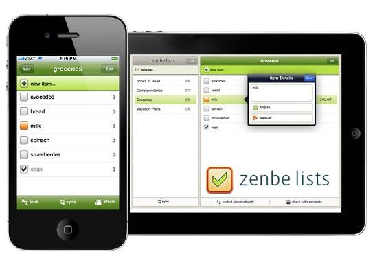 Zenbe List To-do list for iPhone/ipad