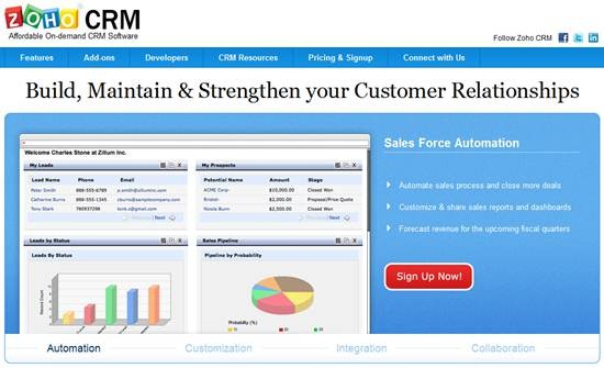 Zoho CRM On-demand CRM Software