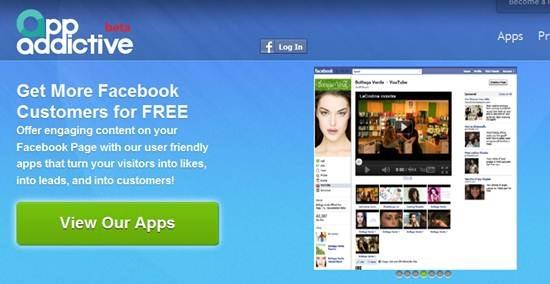 appaddictive 13 useful Custom Facebook Fan page builder