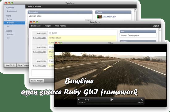 bowline - open source Ruby GUI framework