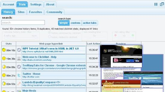 clickhint chrome browser extension