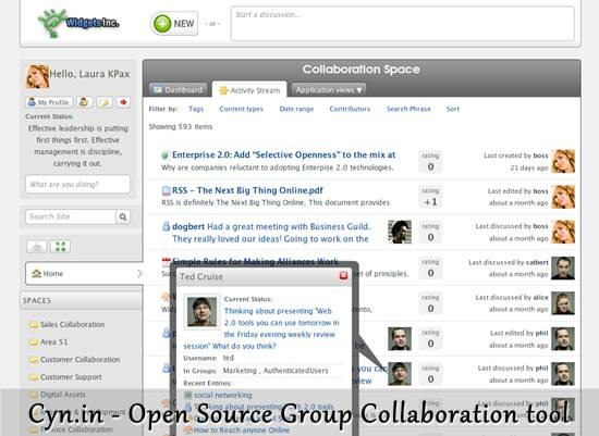 Cyn.in - Open Source Group Collaboration tool