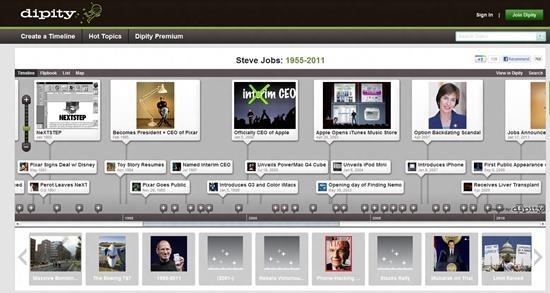 Dipity - free digital timeline creator