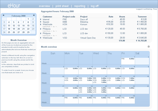 ehour-time-tracking-tool