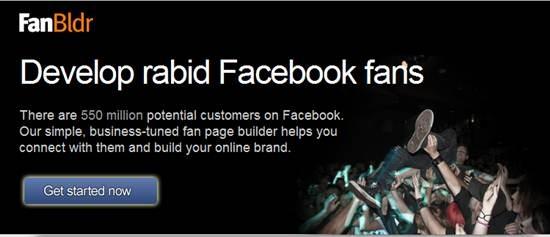 fanbldr 13 useful Custom Facebook Fan page builder