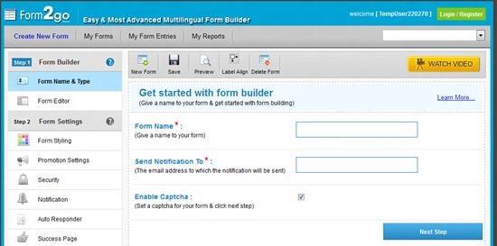 form2go Top 13 online Form Building Apps