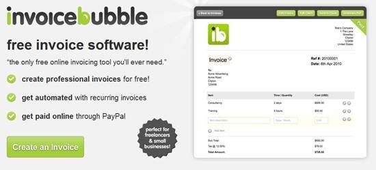 free invoice software Invoice Bubble