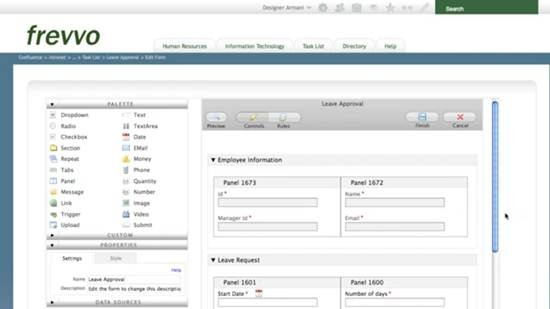 frevvo - Ajax-based E-form builder