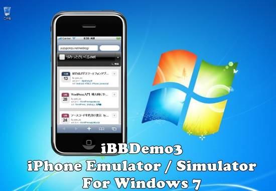iBBDemo3 - iPhone Simulator For Windows 7