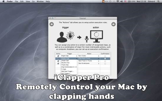 Remotely Control your Mac by clapping hands - iClapper Pro