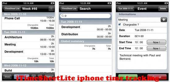 iTimeSheetLite 8 best iPhone Apps for Tracking Time on Projects