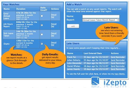 iZepto Online Employee TimeSheet application