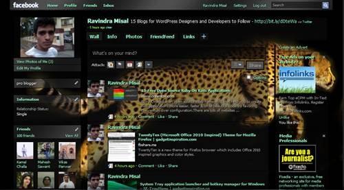 leopard facebook skin
