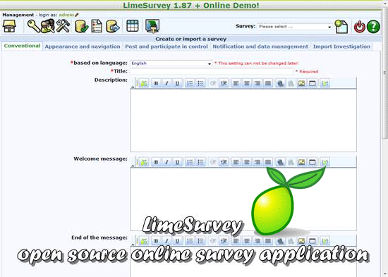 LimeSurvey - open source online survey application